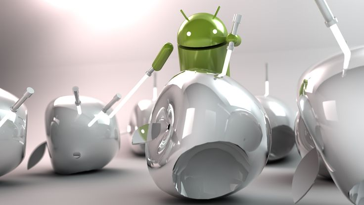 android fight with apple wallpaper