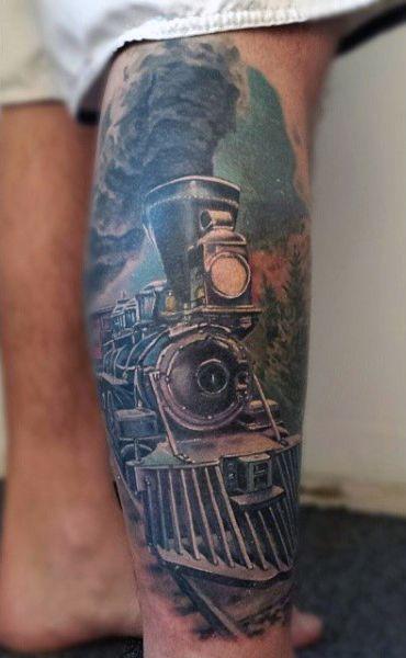 Steam locomotive tattoo