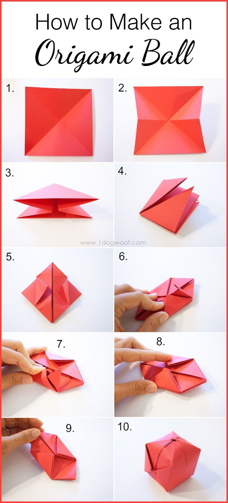 How to Make an Origami Ball | www.1dogwoof.com