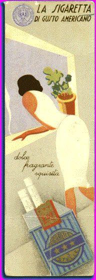 Italian advertising bookmark