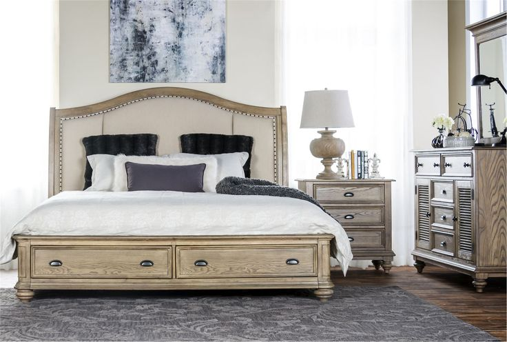 Sutton california king storage bed 1295 client thorpe - California king storage bedroom sets ...