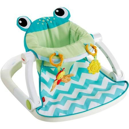 Piper-Fisher Price Sit-Me-Up Floor Seat, Citrus Frog (her Bumbo seat has so many straps and buckles it's impossible to put her in it without her sitting on them! It's really frustrating and doesn't look comfortable