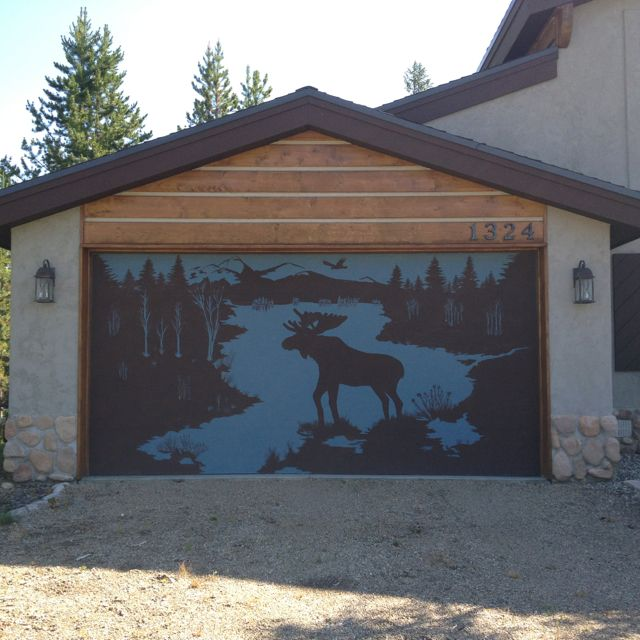 Cool Garage Door Stencil For The Home Cool Garages
