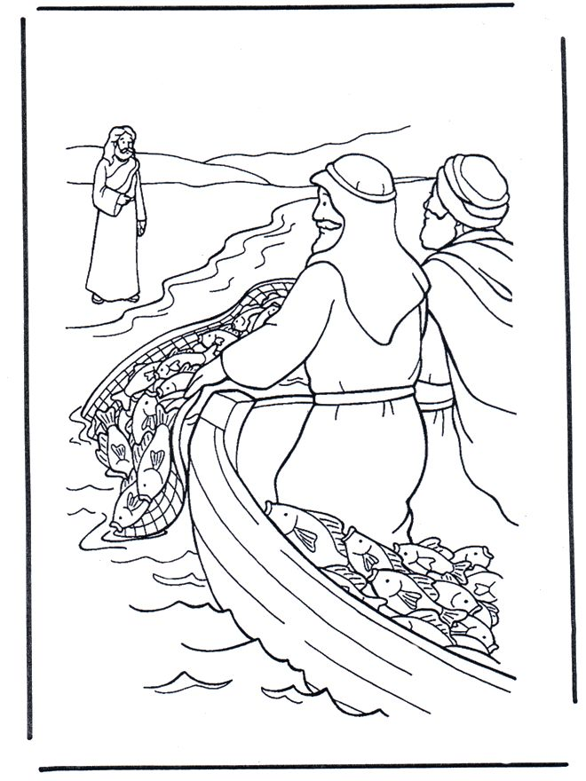 Jesus near the water, lots of Bible coloring pages and other themes