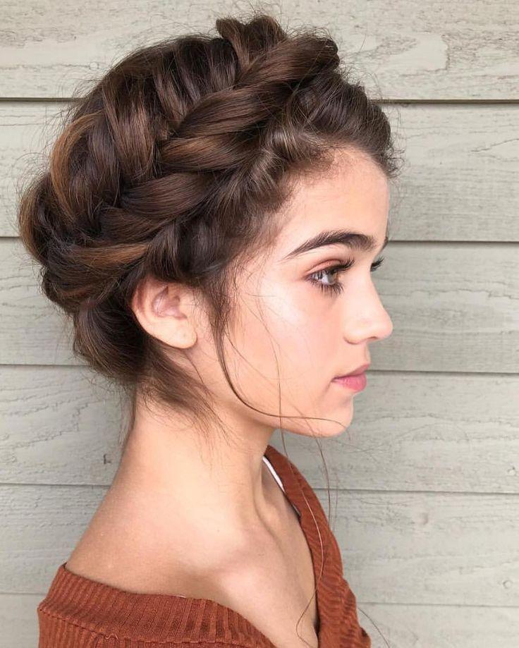 50 Most Beautiful Bridal Hairstyles From Real Weddings Page 21 Of 50 Brautfrisuren Echten Hochzeiten S Medium Length Hair Styles Hair Styles Hair Lengths