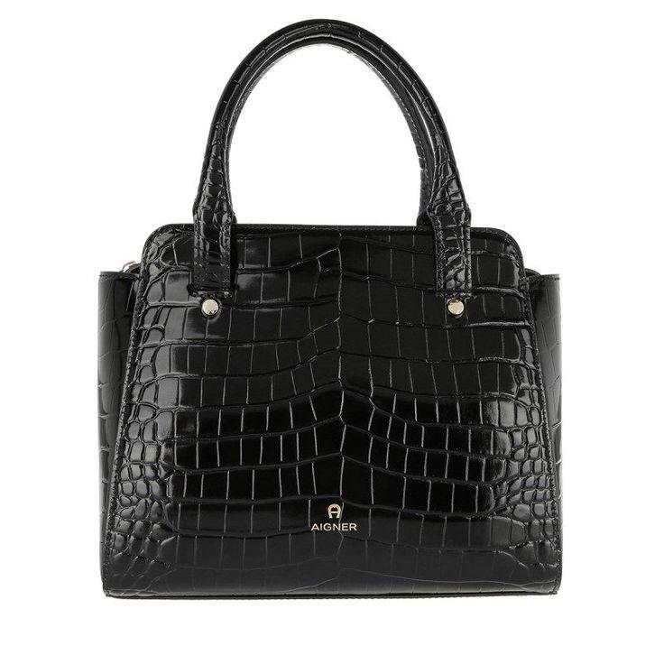 Aigner Aigner Tasche – Leather Handbag Black – in schwarz – Henkeltasche für Damen