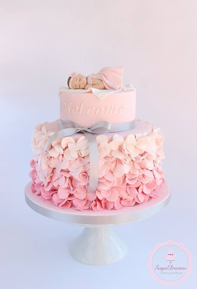 Cake Decorating Baby Shower Girl : Best 25+ Girl baby shower cakes ideas on Pinterest Baby ...