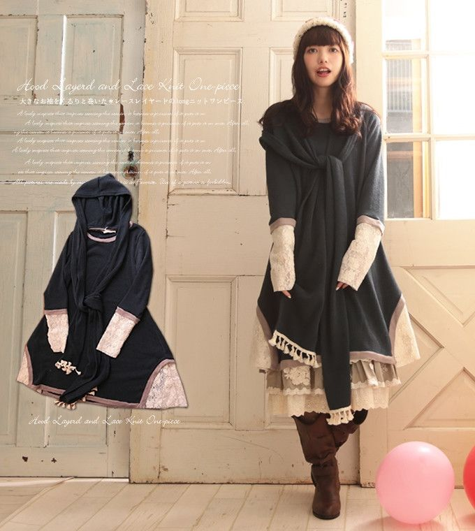 Just in: Japanese hoodie scarf two piece -  lolita Dress . . http://araweloshop.com/products/japanese-hoodie-scarf-two-piece-lolita-dress?utm_campaign=crowdfire&utm_content=crowdfire&utm_medium=social&utm_source=pinterest . .