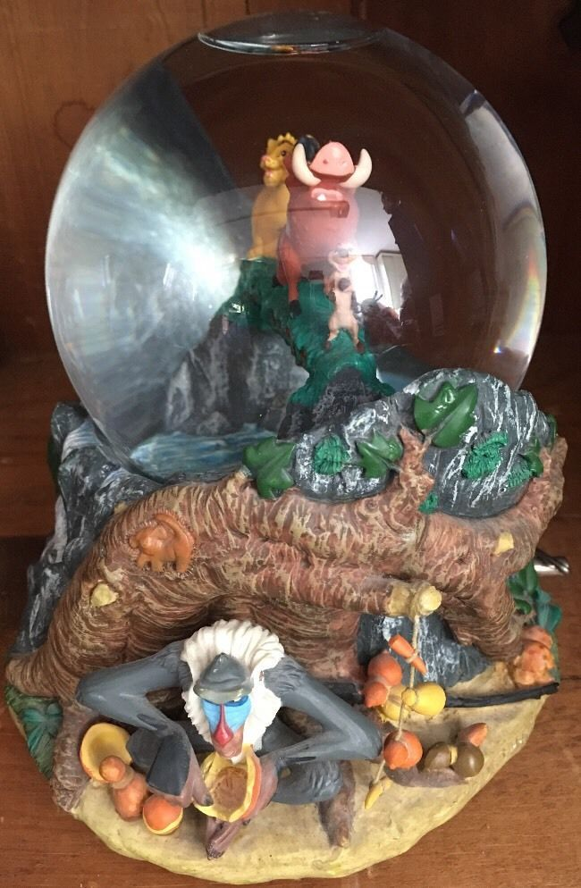 Disney Musical Water Snow Globe Lion King Hakuna Matata Working | eBay