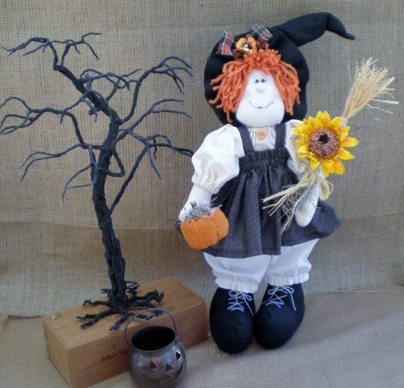 Witch Doll for Halloween and Home Decor by MyStitchesToTreasure, $32.50: Halloween Witch, Witch Dolls