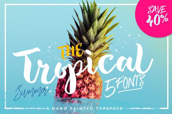 The Tropical - 5 Fonts - 40% OFF by Dirtyline Studio on @creativemarket