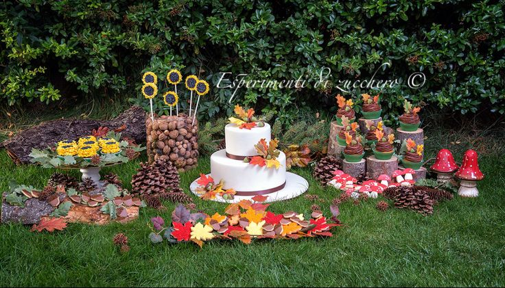 Autumn sweet table