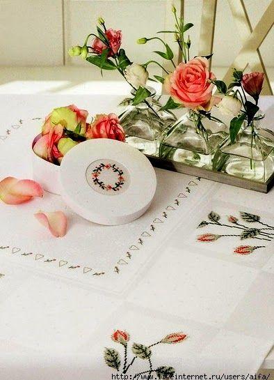 """Милые сердцу штучки: рукоделие, декор и многое другое: Вышивка крестом: """"Лаванда и розы от Rico Design"""" (..."""