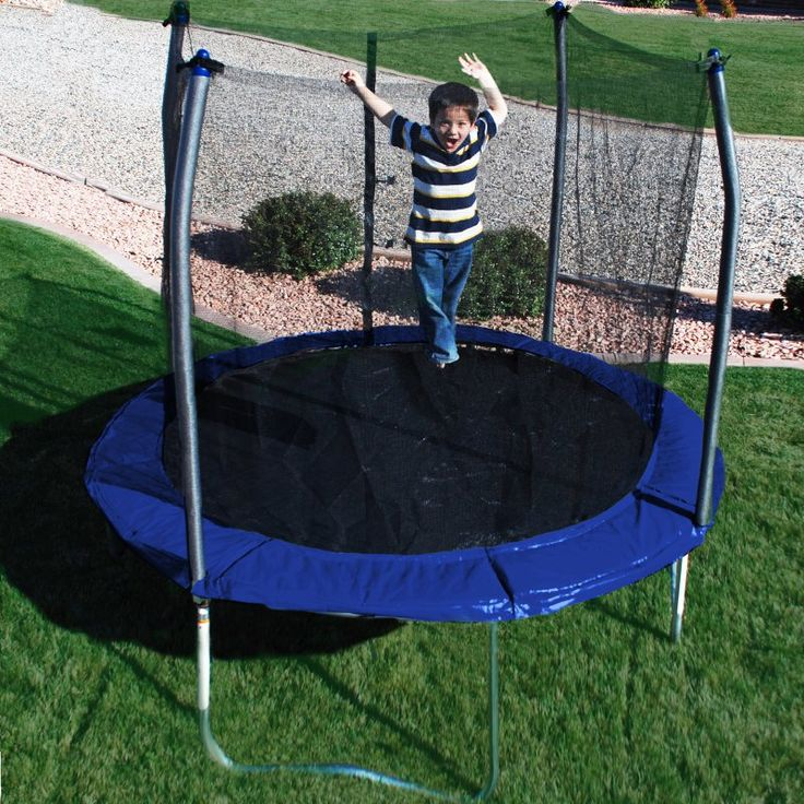 Skywalker 10-ft. Round Trampoline with Enclosure Blue - SWTC1000