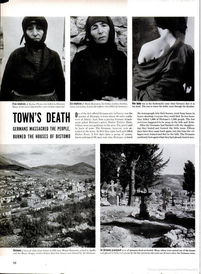 LIFE Magazine / Distomo massacre 1944