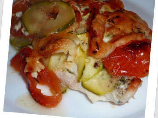 Escalopes de dinde, tomates, courgettes, mozzarella, Recette par Sorcilili - Ptitchef
