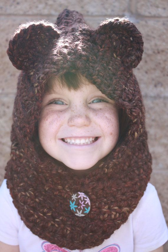 Crochet Baby Bear Cowl Pattern : 17 best images about CHILDS SCARVES=--=COWLS=HOODIE=ANIMAL ...