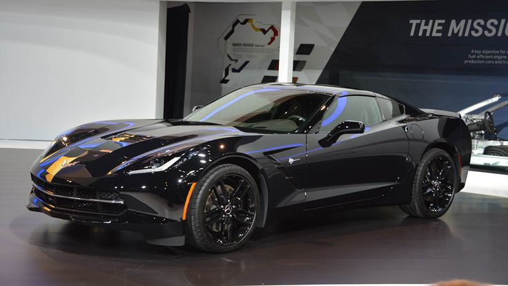 Photos: 2014 Black Widow Corvette at the Chicago Auto Show