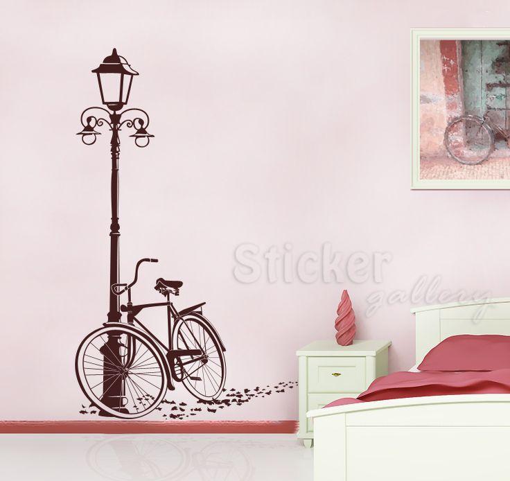 Ποδήλατο - Αυτοκόλλητο τοίχου για διακόσμηση στο σπίτι.  Bicycle Wall Decal - decoration with wallstickers.