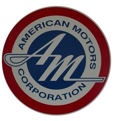 "AMC Motors Logo | 1954-1969 ""AM"" Circular Dealership Sign."