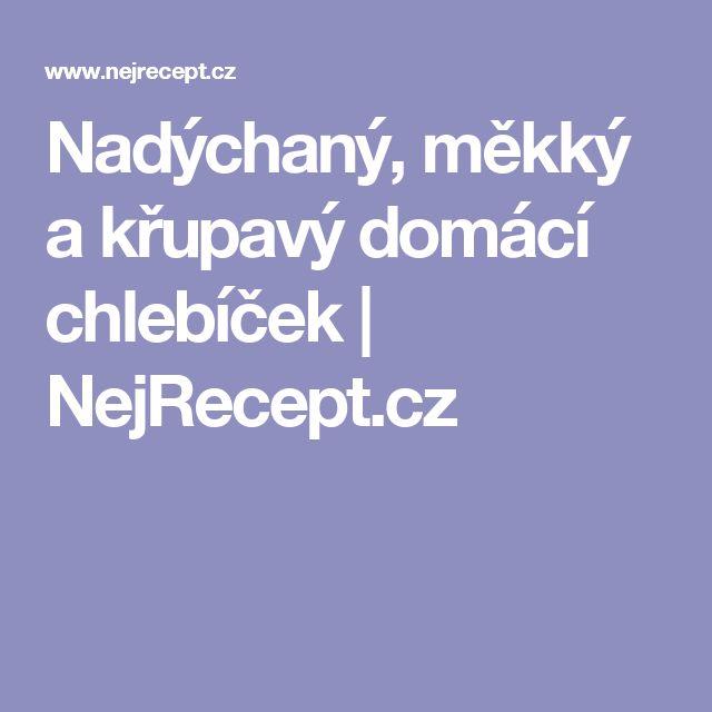 Nadýchaný, měkký a křupavý domácí chlebíček | NejRecept.cz