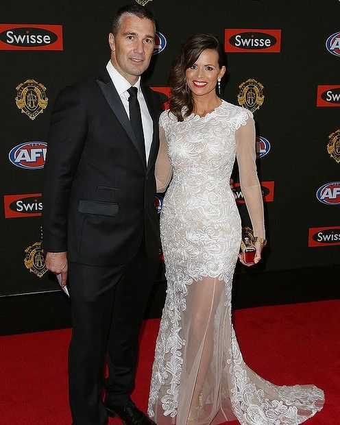 WORST LACE: #JOSILVAGNI. There's great lace, there's good lace and there's where-the-hell-did-the-designer-find-this-lace? This dress, I'm sad to say, is the last of the three. It's mother-of-the-bride, rather than super bridal and those gold shoes don't do it any justice.  #Brownlow2014 #Brownlowredcarpet