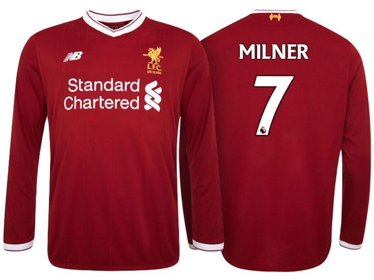 Liverpool Jersey james milner Home Long Sleeve 2017-18 Shirt