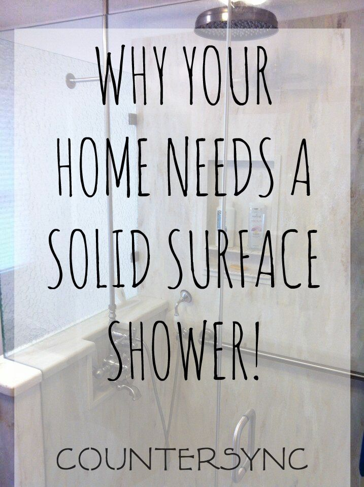 Your home needs a solid surface shower! Choose DuPont Corian or LG Hi-Macs for your next bathroom remodel and say goodbye to mold, mildew, grout, and seams!