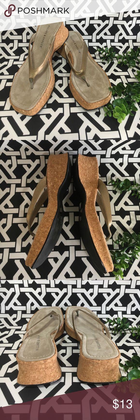 Hillard & Hanson Lemon Thong Cork Sandals SZ 10M Hillard & Hanson Lemon Thong Cork Sandals SZ 10M Display Sandals comes without box Hillard & Hanson Shoes Sandals
