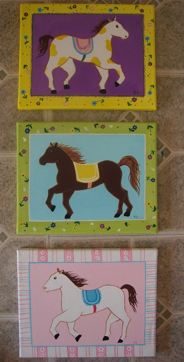 Horses for a girls bedroom https://www.facebook.com/pages/Strokes-of-Colour/138239756198189?fref=photo
