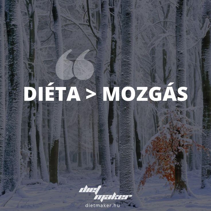 Ha a diéta vagy a mozgás közül kellene választanom, akkor mindenképpen a diétára szavaznék.