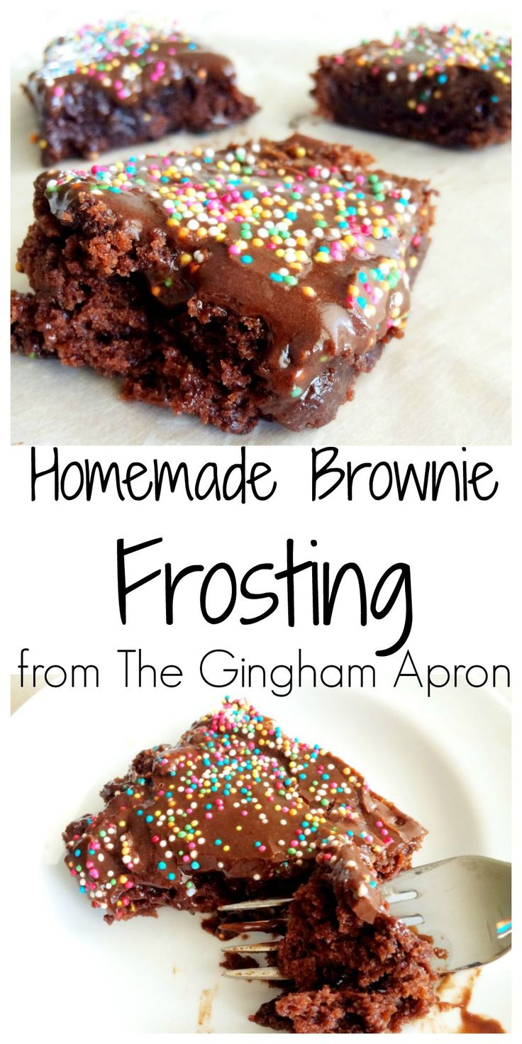 Homemade Brownie Frosting- No one will know that you used a brownie mix when you top it with delectable (and easy!!) frosting.
