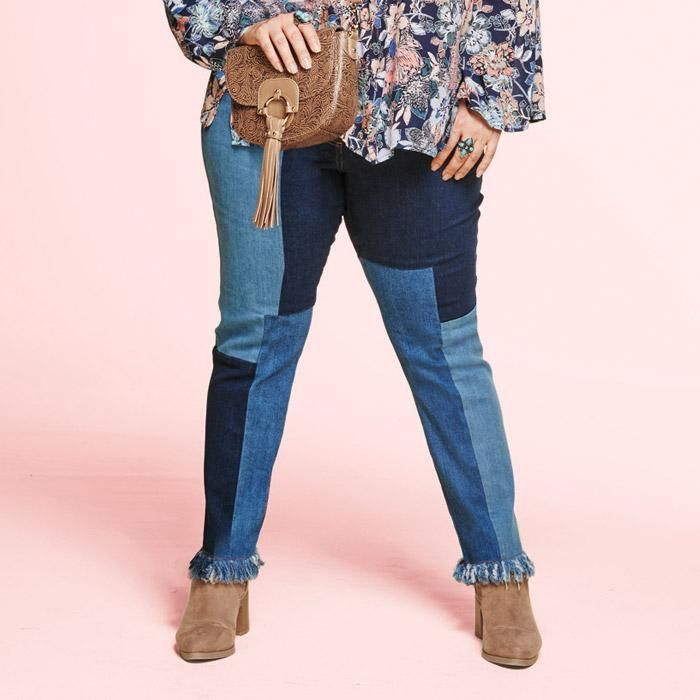 ad3675b187c4e Mark. All Patched Up Denim Patch Jeans (Size 2) by AVON