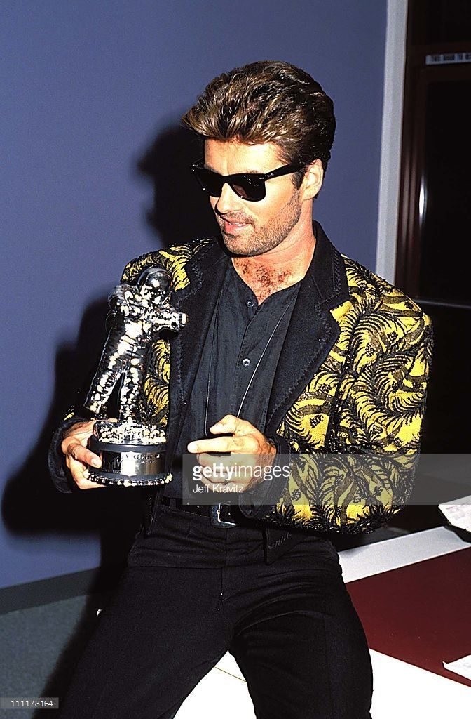 George Michael during 1989 MTV Video Music Awards in Los Angeles, California, United States.