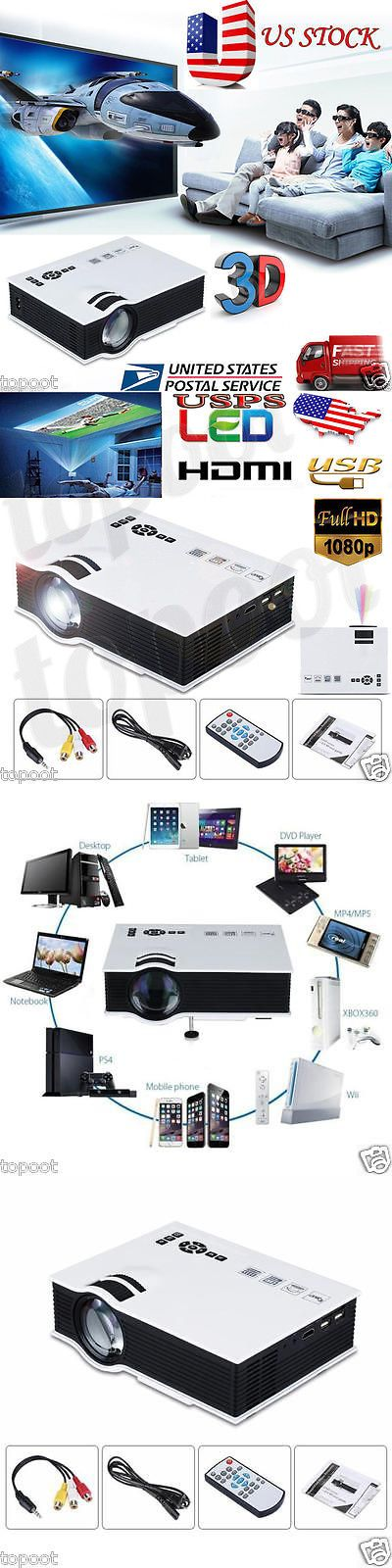 Home Theater Projectors: 7000 Lumens Hd 1080P Home Theater Projector 3D Led Portable Sd Hdmi Vga Usb Us -> BUY IT NOW ONLY: $68.98 on eBay!