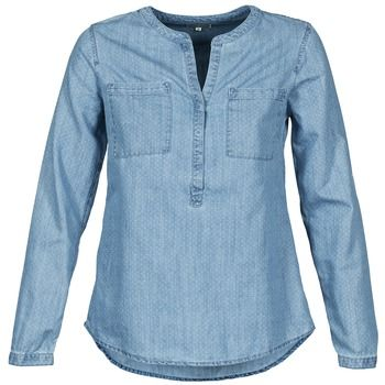 camisa denim azul claro con cuello mao de Tom Tailor, ¡un básico para esta temporada!