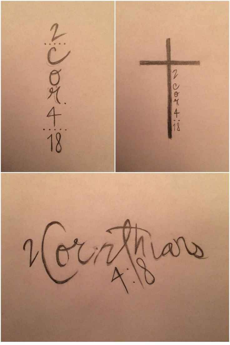 2 Corinthians 4:18 Cross Tattoo Design I want this but with 1 John 4:4