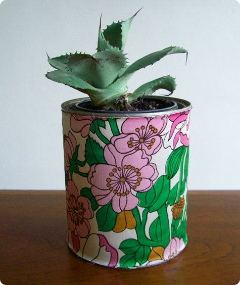 Old paint can or coffee canister for a planter!