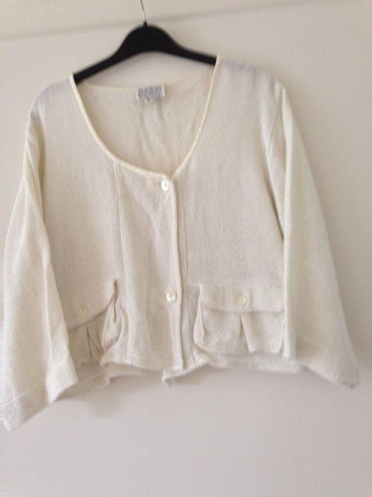 Masai Clothing Company Cream Cardigan/Jacket. Sz Medium. Exc. Condition