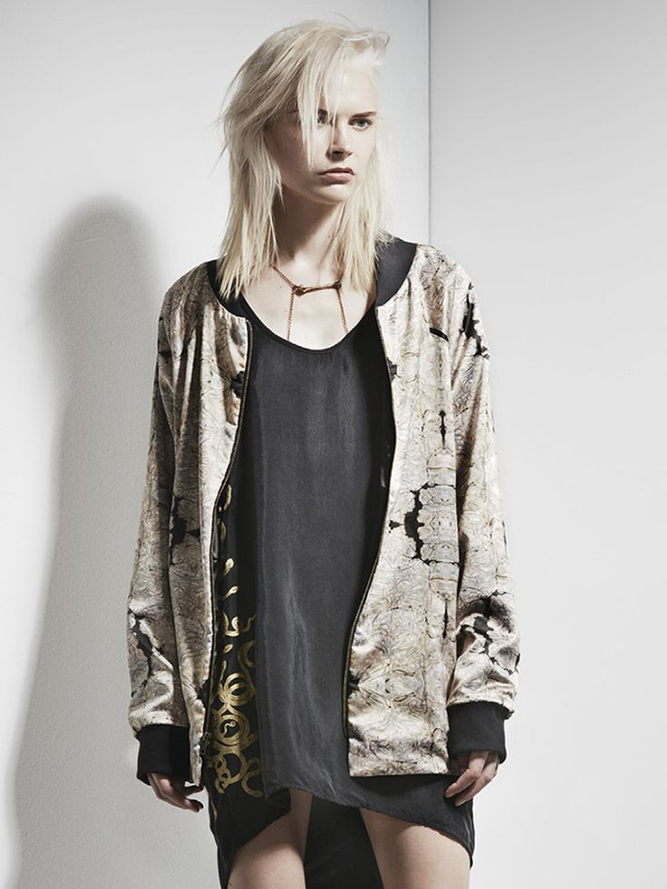 Bronze Age Bomber Jacket by SERPENT & THE SWAN