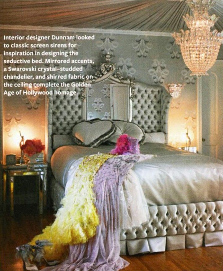 dite von teeses bedroom from instyle magazine february 2011 interior designer dunnam looked to classic screen sirens for inspiration in designing the - Blair Waldorf Schlafzimmer Dekor