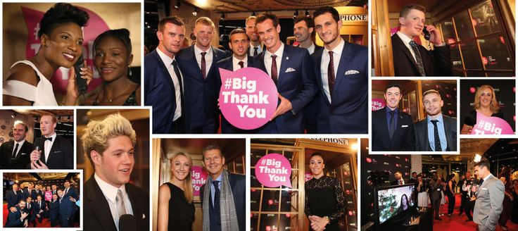 So many stars made a #BigThankYou call from the golden phone box at BBC Sports Personality 2015.