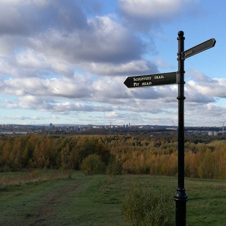 Views over Leeds from Rothwell Country Park. Gorgeous sunshine brisk wind. Perfect walking weather.