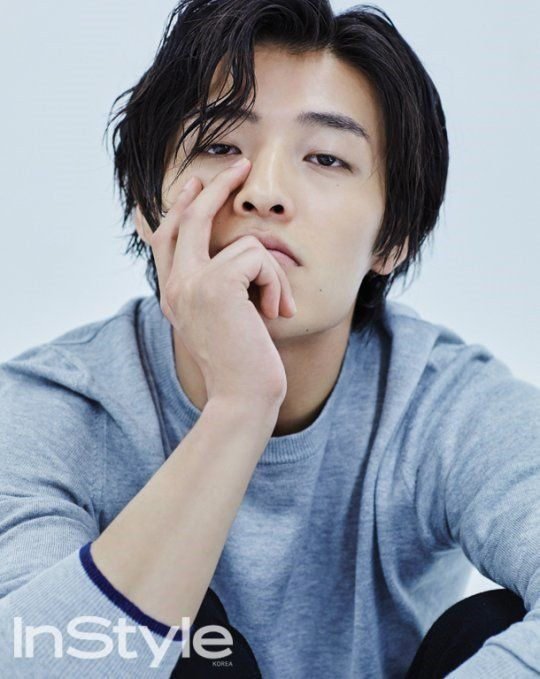 Kang Ha Neul shows off his longer locks in 'InStyle' | allkpop.com