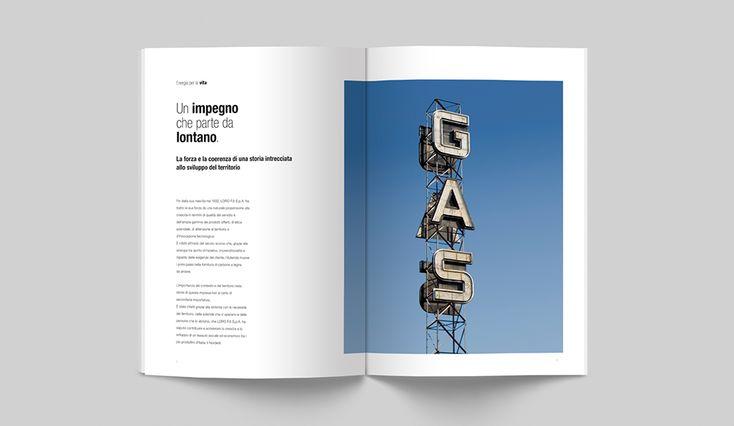 CLIENTE LORO F.lli S.p.A. Company profile per l'azienda, dal 1932 impegnata a fornire energia e carburante per lavoratori autonomi, case e imprese. #dart #company #comunicazione #impresa #grafica #design
