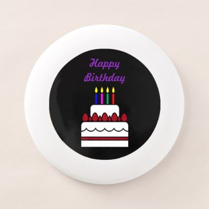 #Happy Birthday Cake with Candles Wham-O Frisbee - #birthday #gifts #giftideas #present #party