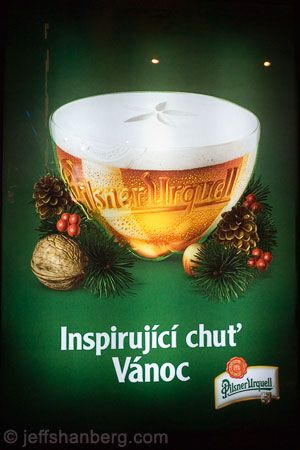 Christmas Advertisement for Pilsner Urquell Beer