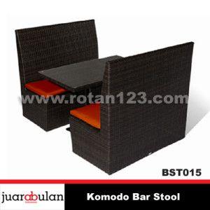 Komodo Bar Stool Kursi  Bar Rotan Sintetis KRT015