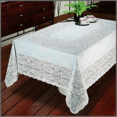 Our Vinyl Lace Tablecloth Makes A Beautiful Table Topper, For Everyday To  Christmas And Wedding Decoration. Try This Vinyl, Easy Care, No Iron  Tablecloth