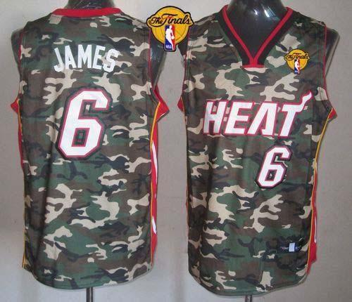 uk availability 3500a d207c Heat #6 LeBron James Camo Stealth Collection Finals Patch ...